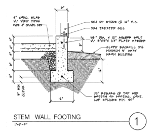 Stemwall Section Drawing