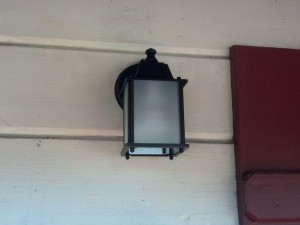 New porch light