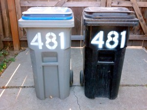 Trash And Recycling Numbered
